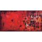 quadro astratto moderno con lettere rosso