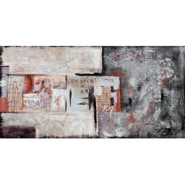 quadro astratto moderno con libro grigio