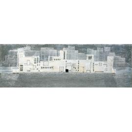 quadro città spaziale titanio