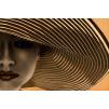 quadro donna con cappello giallo
