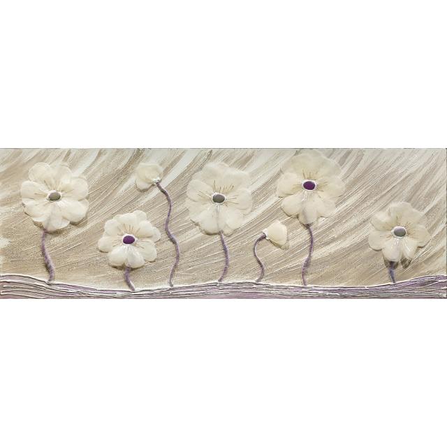 Fiori stoffa bianca