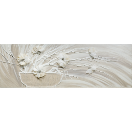 Vaso fiori bianchi