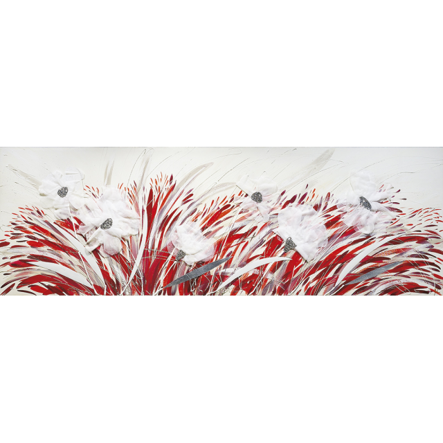 Fiori rossi stoffa