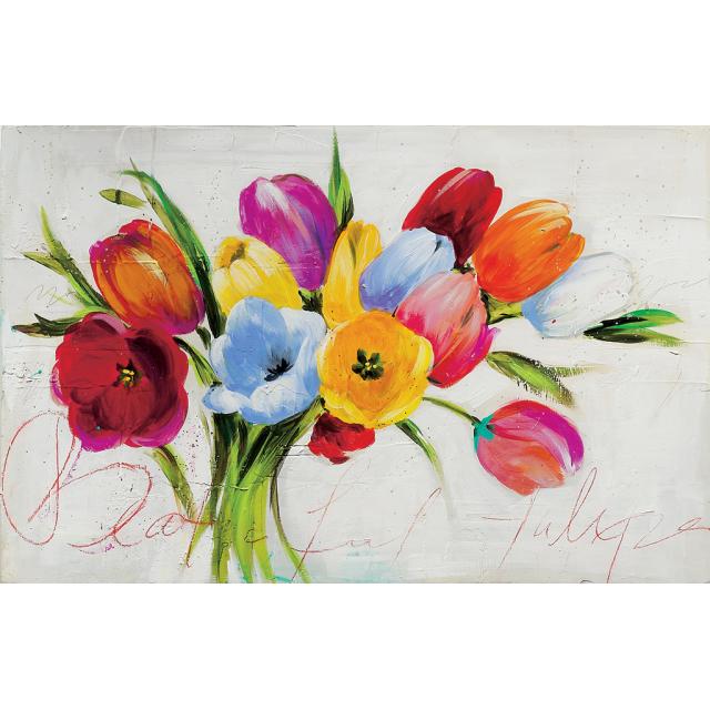 Mazzo di tulipani multicolors