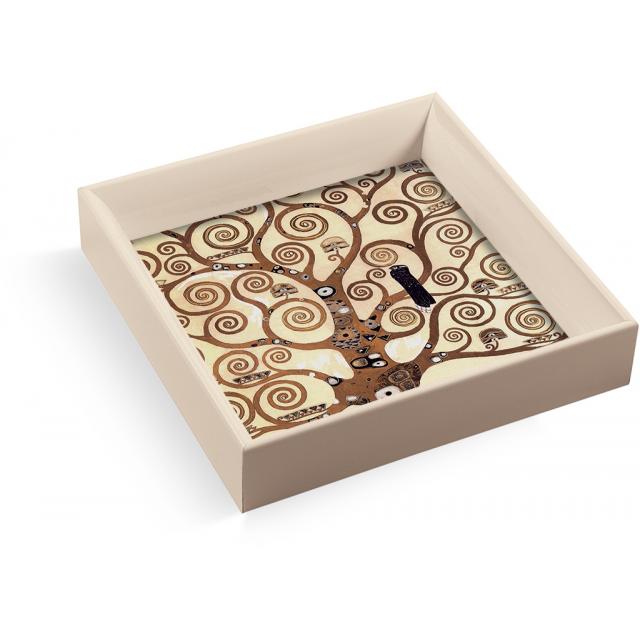 Svuotatasche albero vita Klimt quadrato