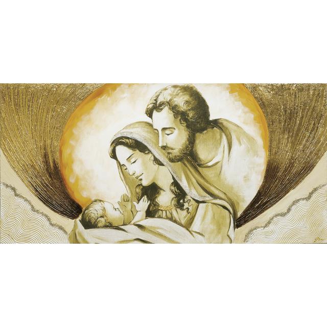 Sacra Famiglia nuvola oro