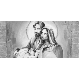 Sacra Famiglia argento