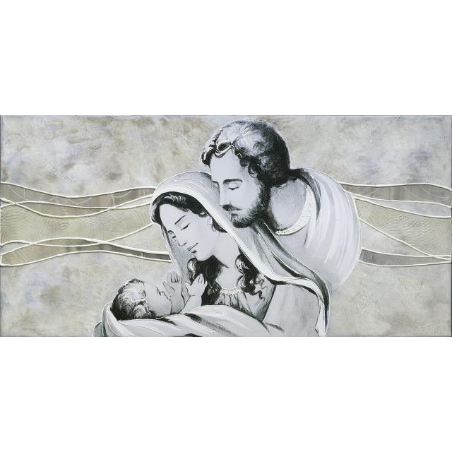 Sacra Famiglia colline avorio-argento