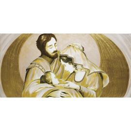 Sacra Famiglia parantesi oro
