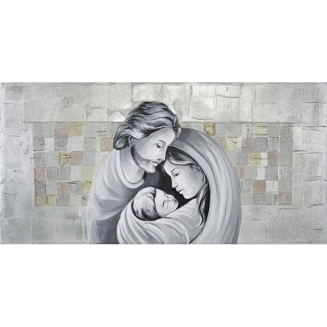 Sacra Famiglia quadri argento