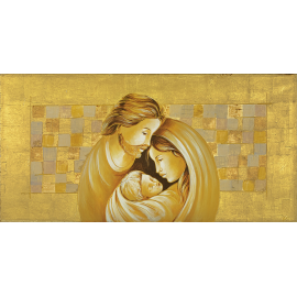 Sacra Famiglia quadri oro