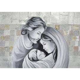 Sacra Famiglia quadri argento media