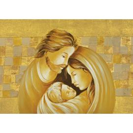 Sacra Famiglia quadri oro media
