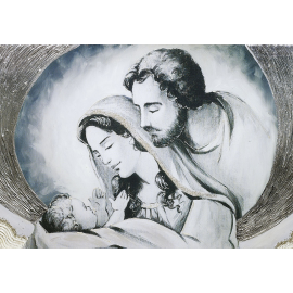 Sacra Famiglia nuvola avorio media