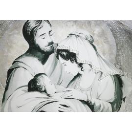 Sacra Famiglia parantesi argento media