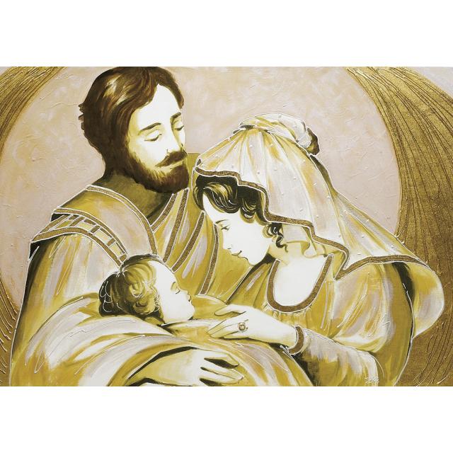 Sacra Famiglia parantesi oro media