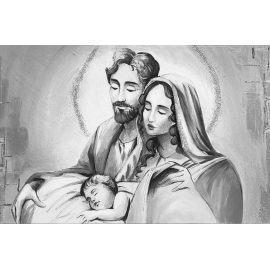 Sacra Famiglia argento media