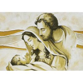 Sacra Famiglia colline avorio-oro media