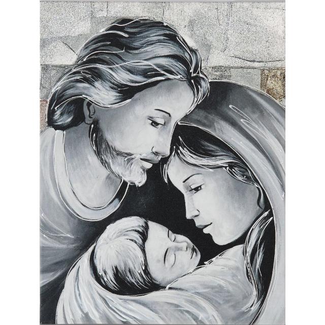 Sacra Famiglia quadri argento piccolo
