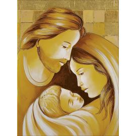 Sacra Famiglia quadri oro piccolo