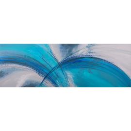 Dipinto astratto materico Archi azzurri