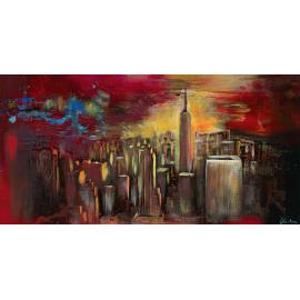 Cityscape tramonto