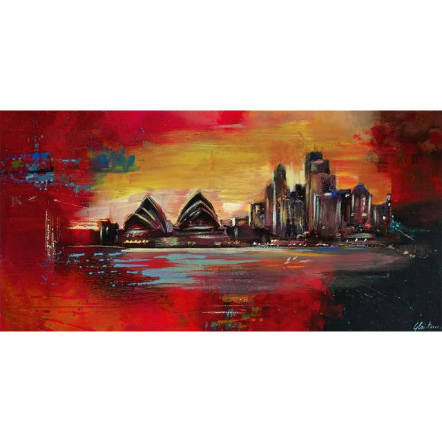 Quadro astratto skyline Sidney