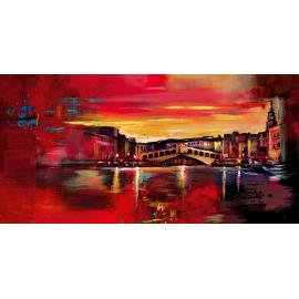 Opera astratta Venezia Rialto tramonto