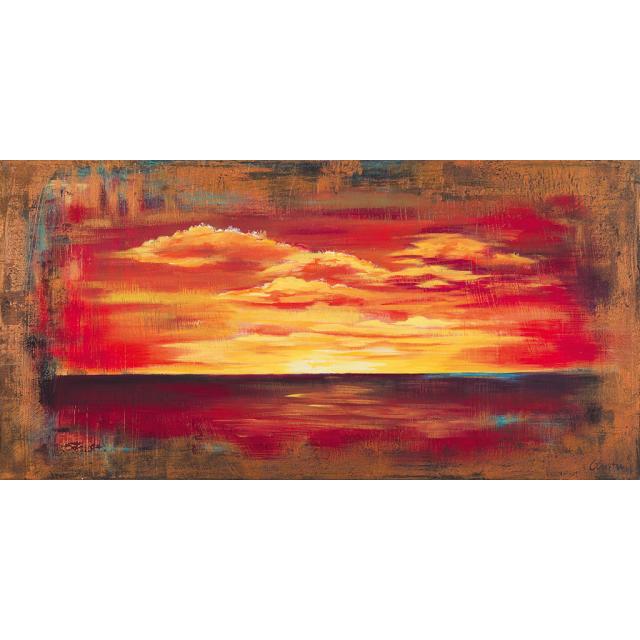 Astratto tramonto rosso
