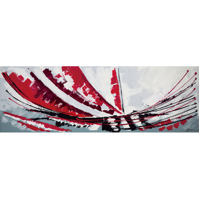 Dipinto astratto vela rossa