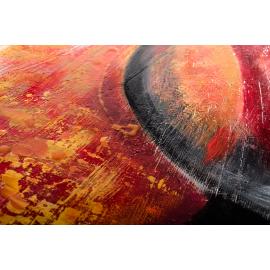 Quadro astratto materico pianeti