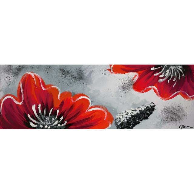 Fiori rossi fondo grigio