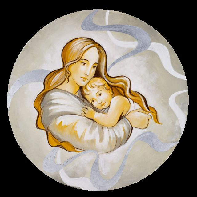 quadro Maternità rotondo
