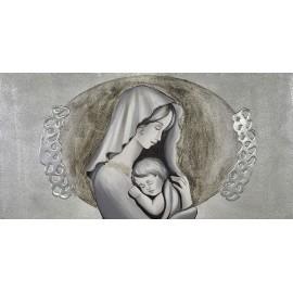 quadro Maternità metrica in argento