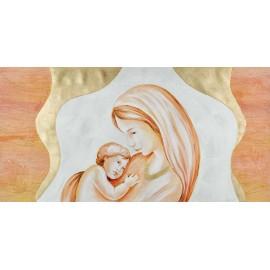 Quadro maternità oro collana