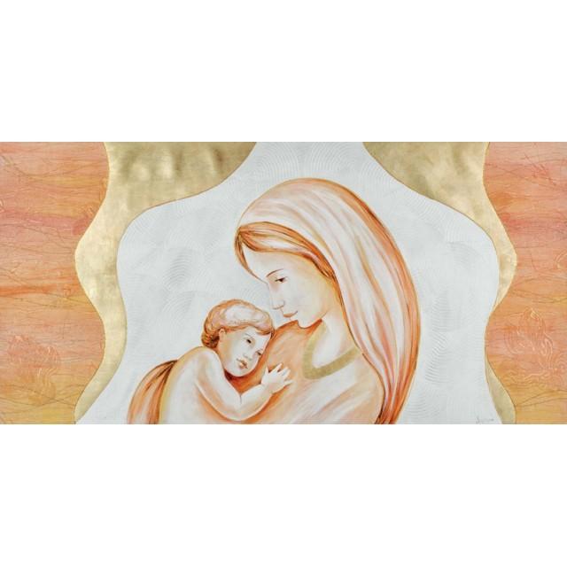 quadro Maternità con collana in oro
