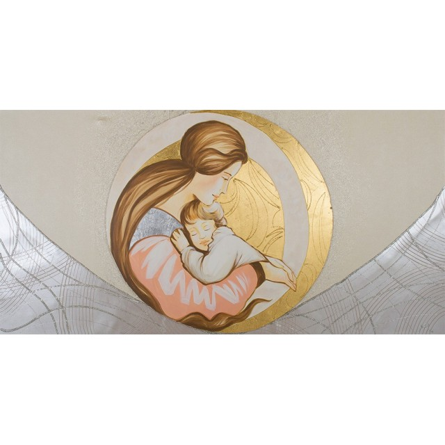 Quadro maternità cerchi in oro