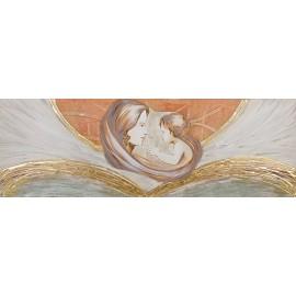 Quadro maternità abbraccio avorio