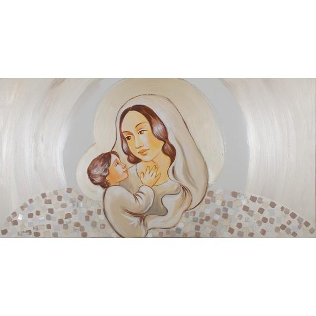 quadro maternità con mosaico