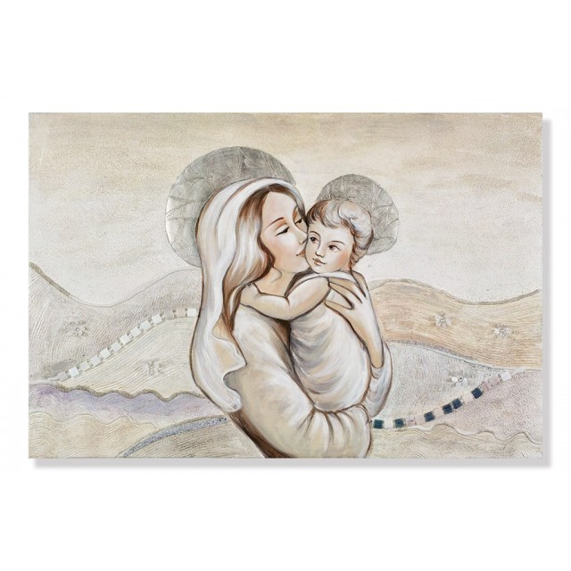 quadro maternità con fondo colline in avorio