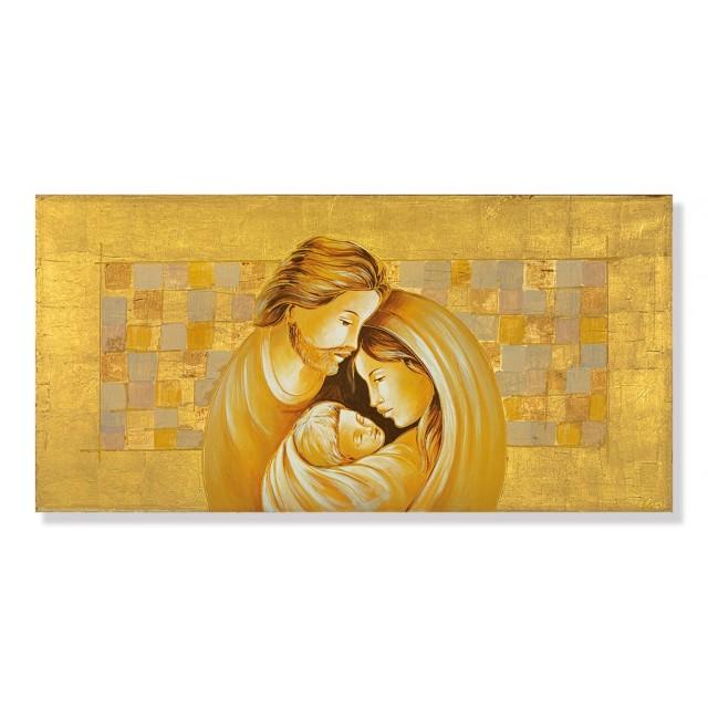 quadro sacra famiglia in oro
