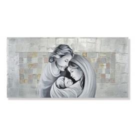 quadro sacra famiglia in argento