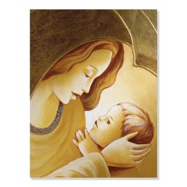 quadro maternità con cuore in oro