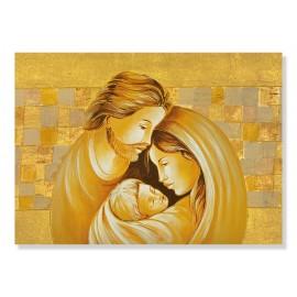 Stampa sacra famiglia con quadri oro