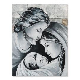 Quadro sacra famiglia quadri argento
