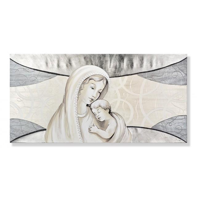 quadro maternità con lamina in argento