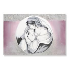 quadro maternità cerchio in argento