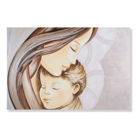 quadro maternità con cuore a righe