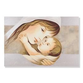 quadro maternità con fondo beige e con parole