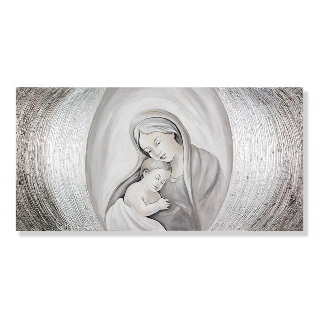 quadro maternità con cerchi in avorio